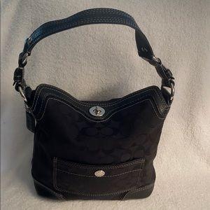 Coach purse hobo style black